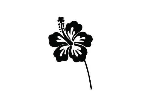Flowers-Silhouette-vector