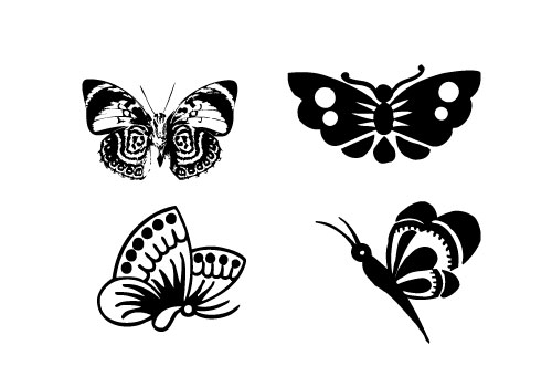 Butterfly-Silhouette-Vector