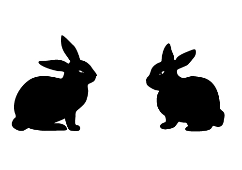 Free Easter Bunny Silhouette Vector