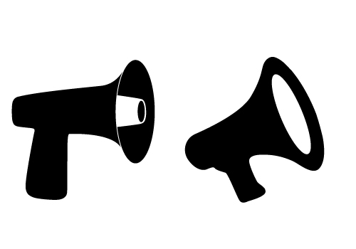 download free megaphone vectors for communication project designs rh silhouettevectorstock com  megaphone vector