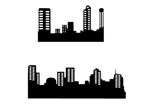 high quality building silhouette vector free download