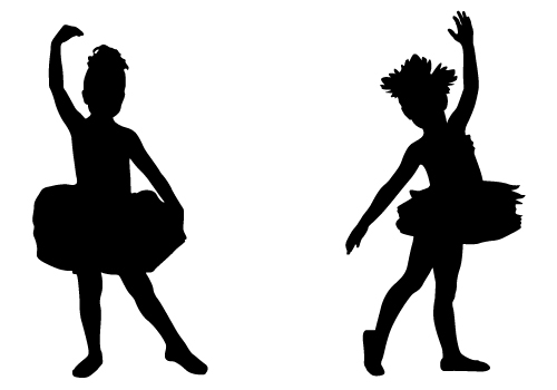 Lovely Child Ballerina Silhouette Free Download