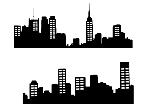 free city skyline silhouette vector download city skyline clipart rh silhouettevectorstock com
