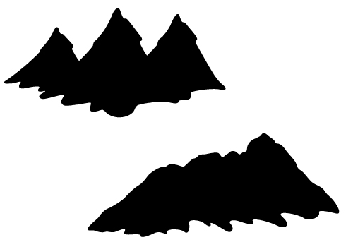 Mountain Silhouette mountain silhouette vector with hills and valleys free download