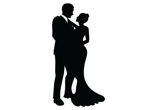 bride and groom silhouette vector free download rh silhouettevectorstock com bride and groom vector free bride and groom vector free download