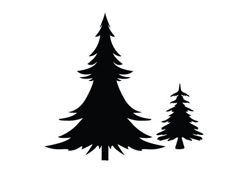 Christmas Tree Silhouette Vector Free Download