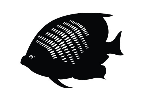 Coral Fish Silhouette Vector