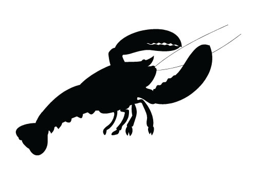 Claw Fish Silhouette Vector