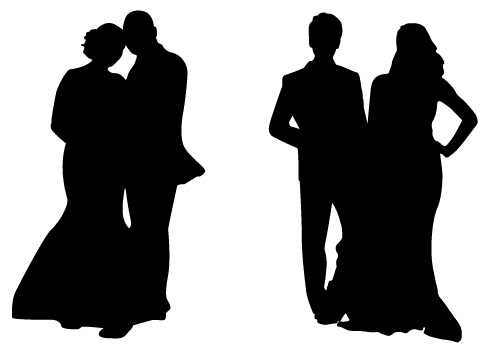 Party Silhouette Vector Free Free Couple Silhouette Vector
