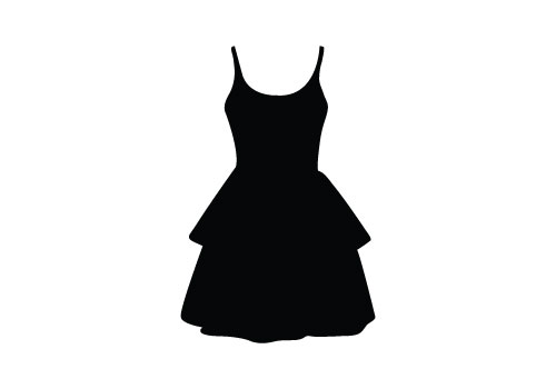 Dress Free Silhouette Vector