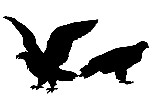 Eagle Silhouette Vector here comes with two individual eagle vector ... Eagle Silhouette Vector