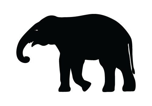 elephant silhouette vector free download elephant vector rh silhouettevectorstock com cute elephant silhouette vector Elephant Silhouette Trunk Up