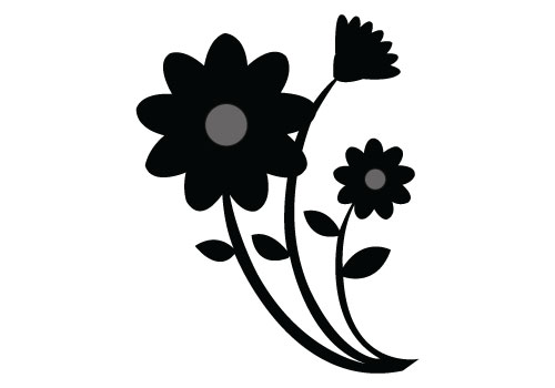 flower silhouette vector graphics free download rh silhouettevectorstock com floral silhouette vector flower silhouette vector free