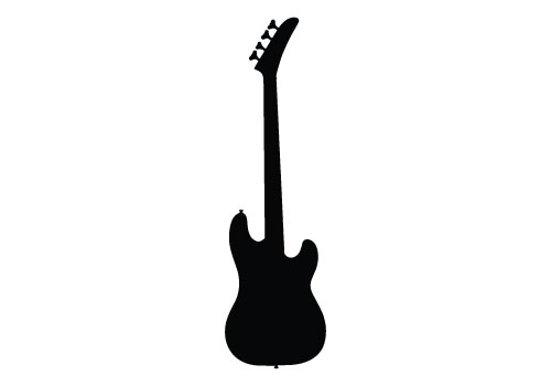free guitar silhouette vector electric guitar free download rh silhouettevectorstock com guitar player silhouette vector guitar silhouette vector free