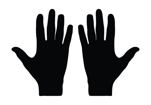 Hand Silhouette Vector Free Download Hand Vector