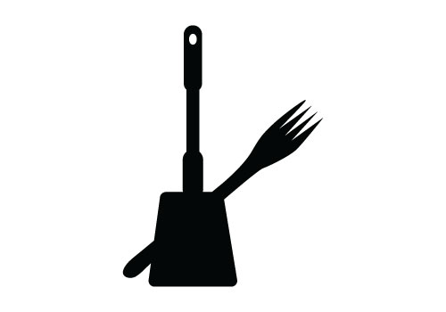 Kitchen Tools Silhouette Vector Free Download Kitchen Utensils