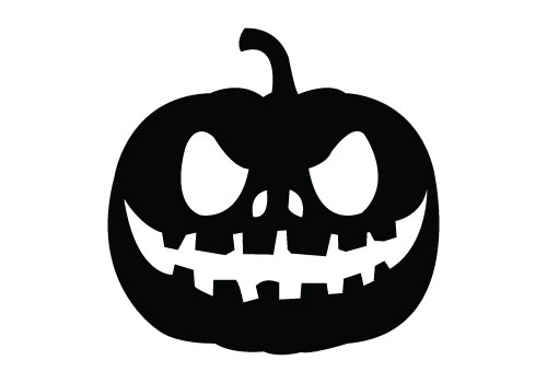 Pumpkin Silhouette Vector Free Download Halloween Vector