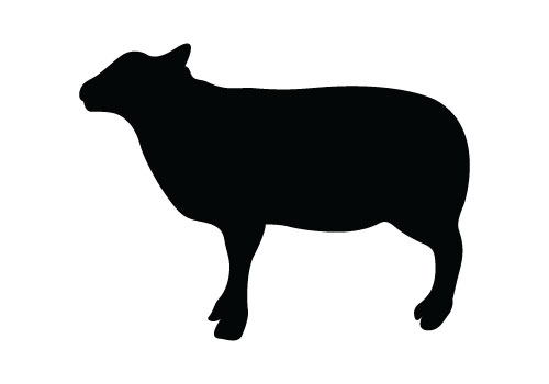 Sheep Vector Silhouette Sheep Silhouette Vector