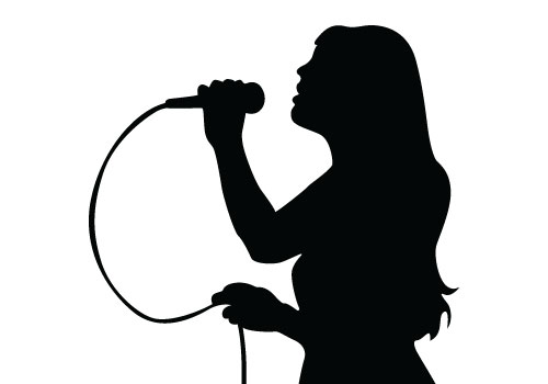 Singing Silhouette Vector