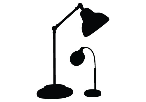 Table Lamp Silhouette Vector Free Download Table Light