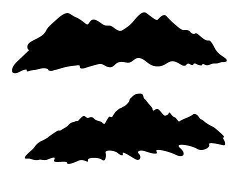 Mountain silhouettes vector images Mountain silhouette