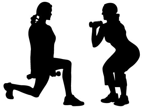 womens exercise vector-01