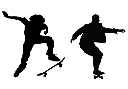 Skateboard Vector Graphics Download Sports vectors