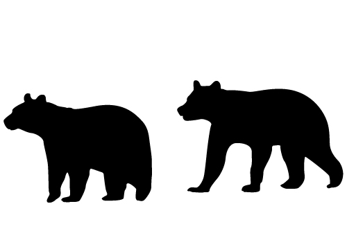 Bear silhouette vector graphics