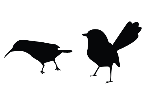 small birds silhouette vector-01