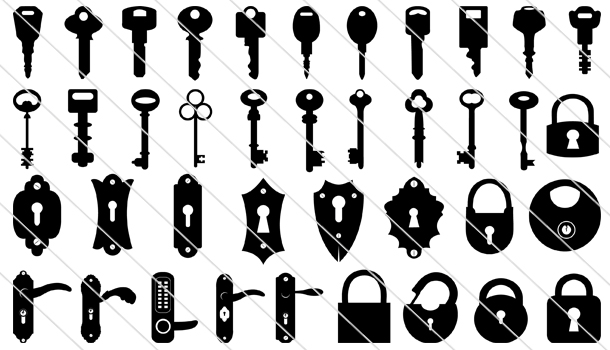 85 Keyhole And Lock Vector Silhouette Silhouette Vector