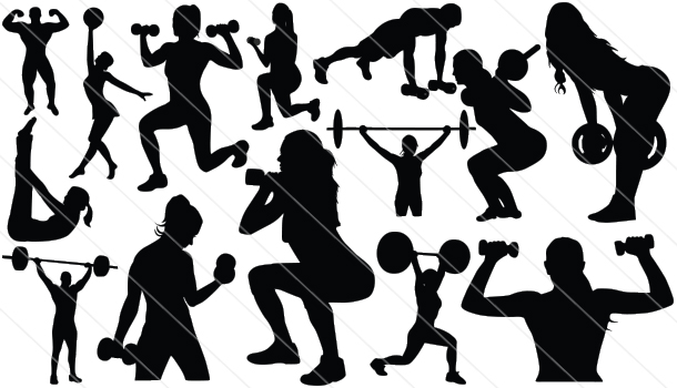 Fitness Silhouette Png 14 Fitness Silhouette Vector Eagle Silhouette Vector