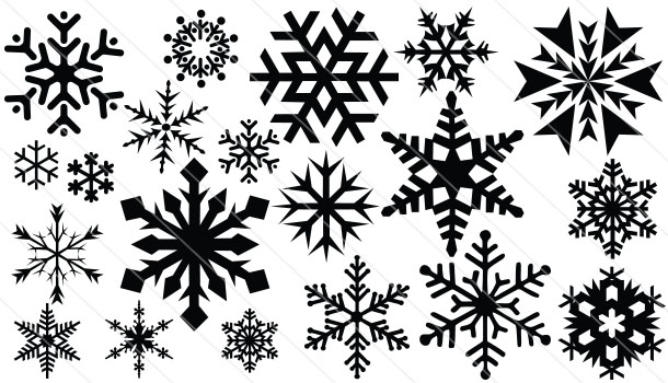 snowflake silhouette vector 20