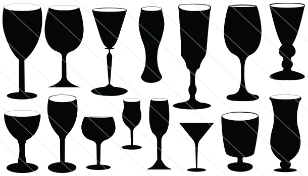 Drinking Wine Silhouette Drinking Glass Silhouette