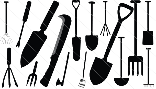 16 agriculture tools silhouette vector rare collection