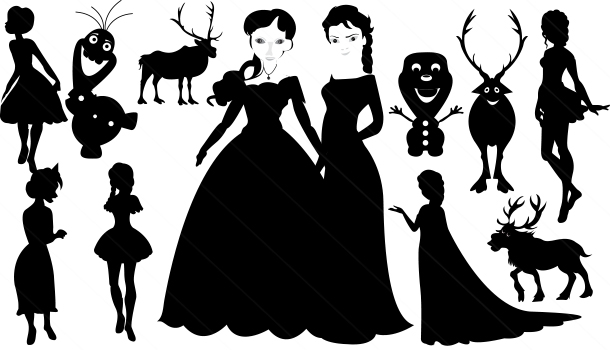 Frozen Silhouette Images Frozen Character Silhouette
